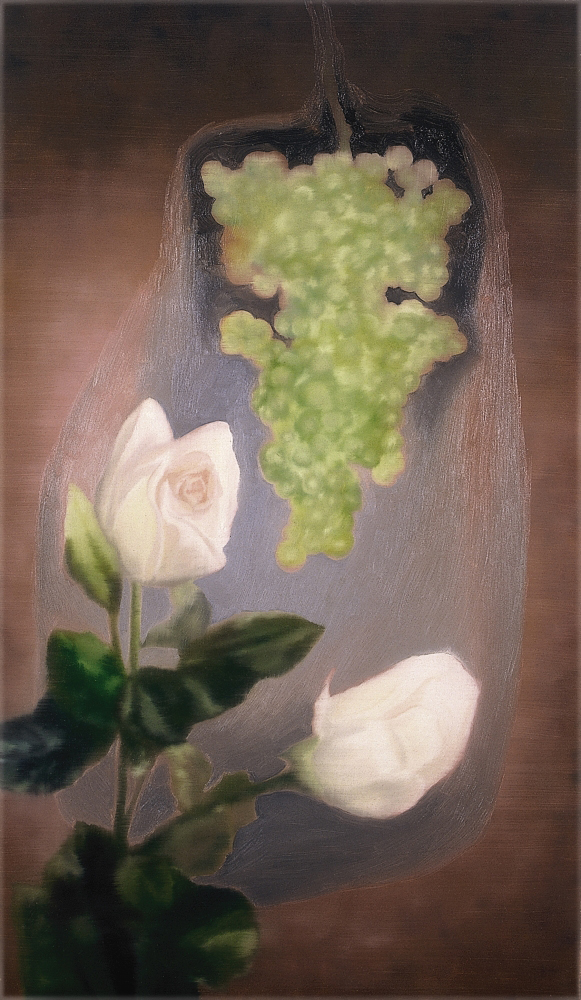 grape with rose o.c. 120x70cm 1998