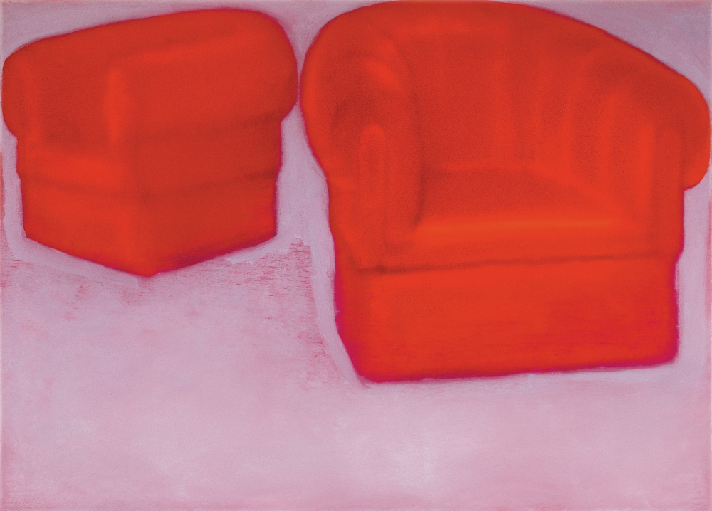red armchairs o.c. 50x70cm 1999