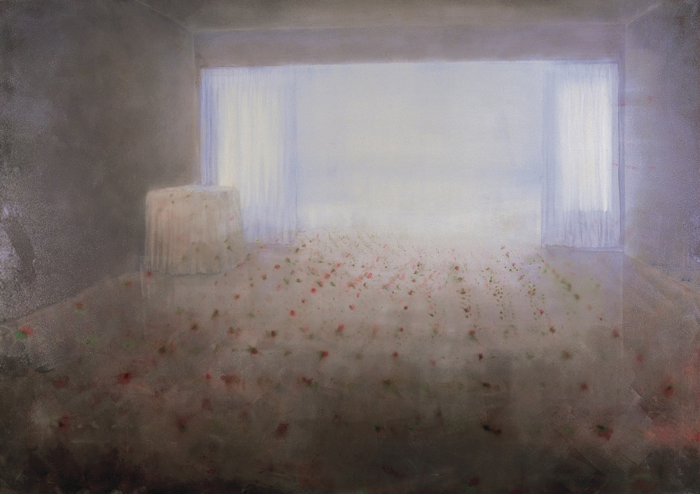 room with a wiew on the sea o,c. 140x200cm. 2000