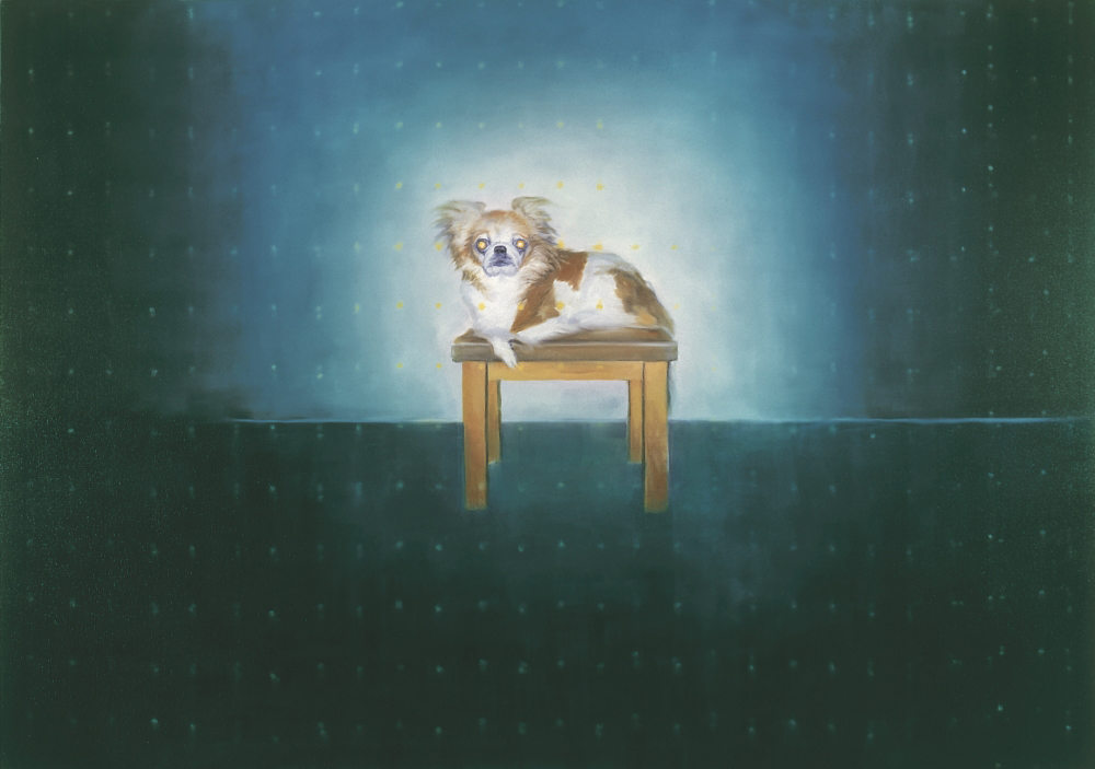 blind chinese dog o.c. 140x200cm. 2001