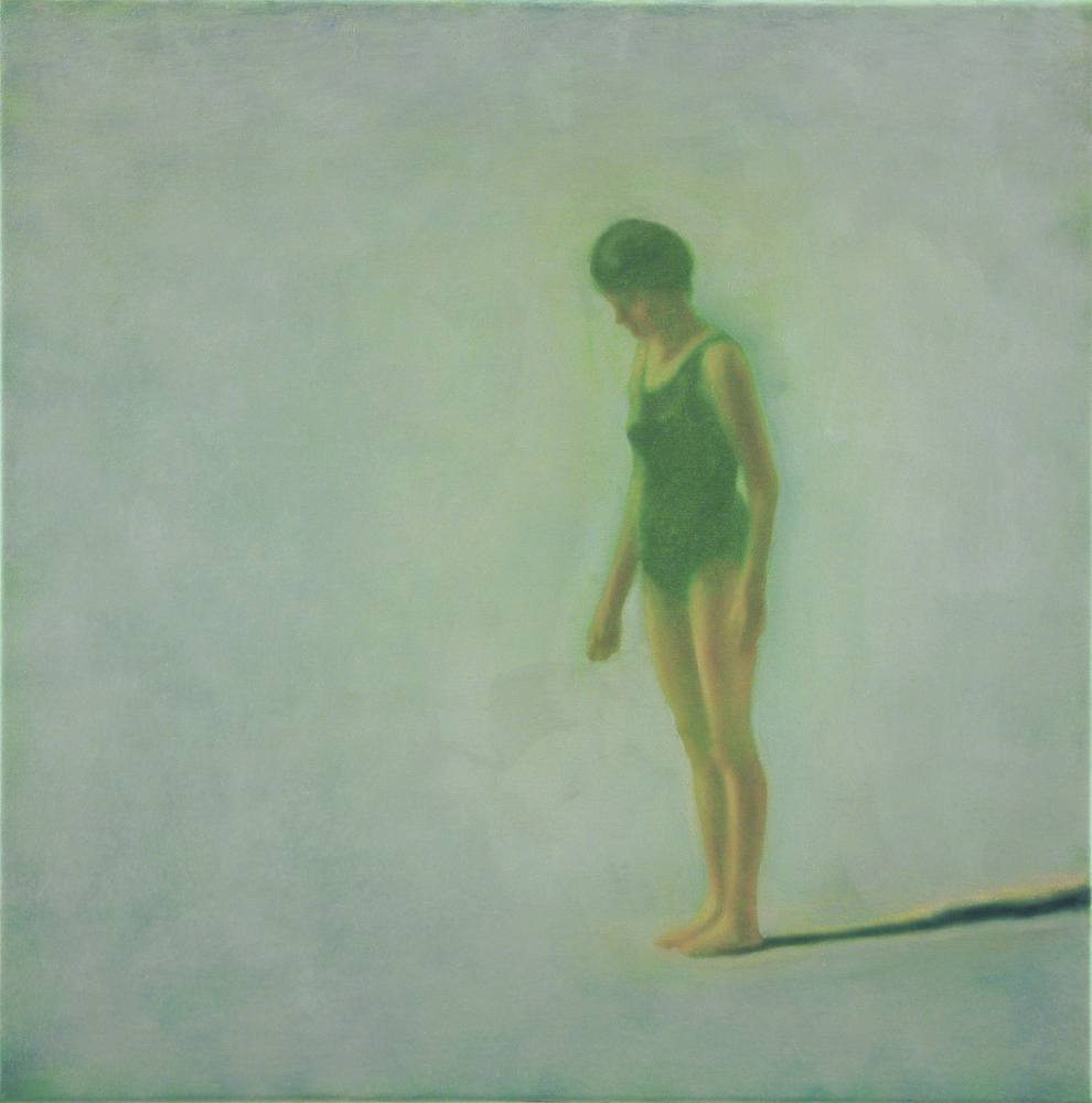 figure in green o.c. 50x50cm 2001