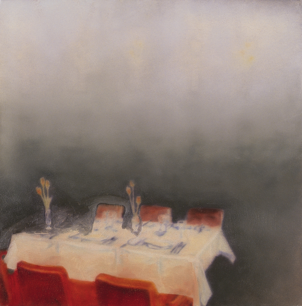 laid table with blindspot o.c. 50x50cm. 2001