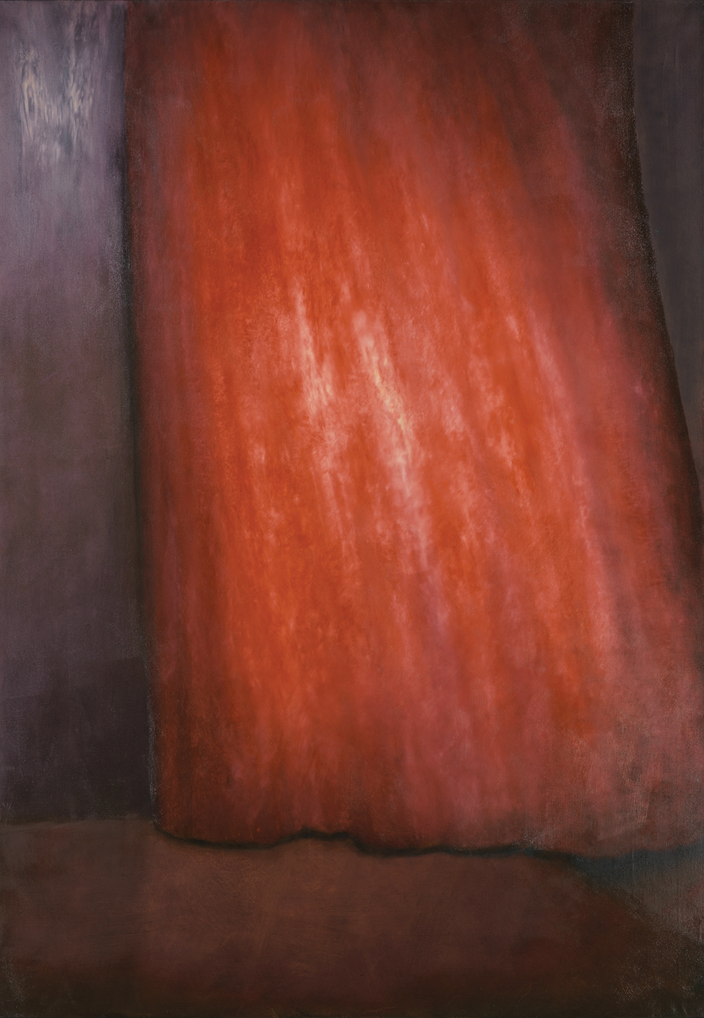 red curtain, oil on canvas, 200x140cm 2001