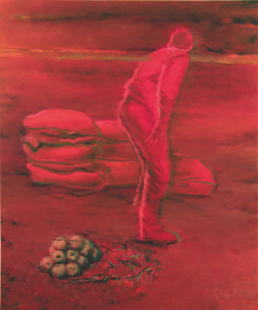figure counting a sacks o.c. 240x200cm. 2002