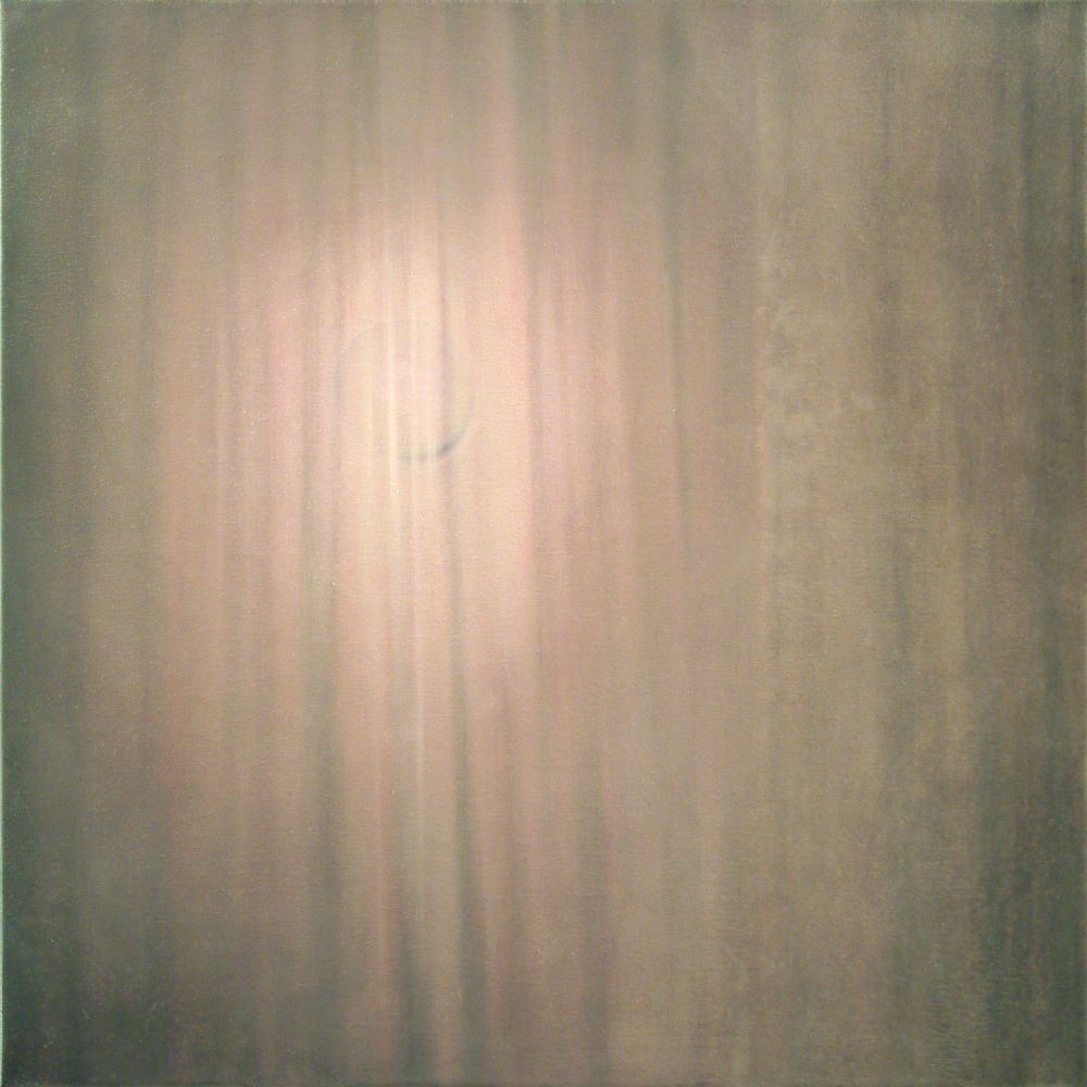 lamp behind a curtain o.c. 100x100cm 2002