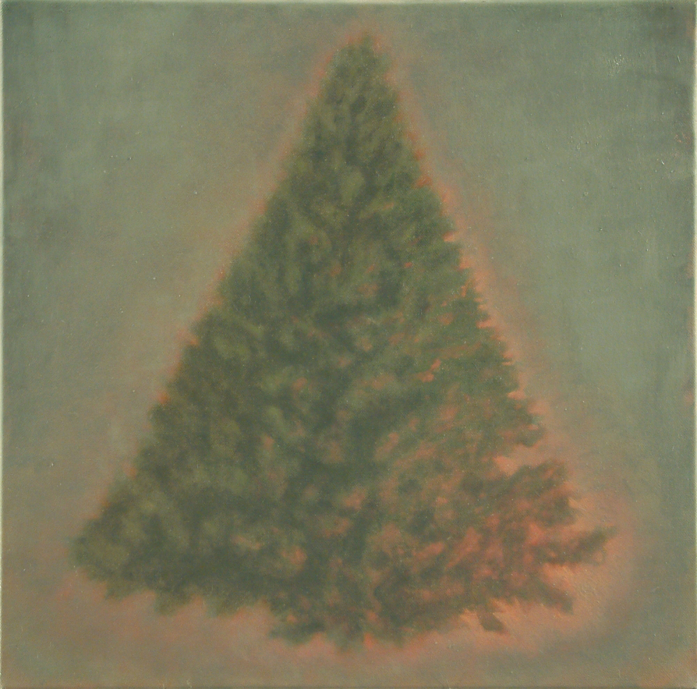 christmas-tree with aura o,c. 45x45cm. 2001-2004