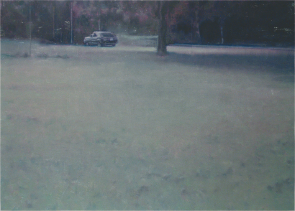 empty park with car o,c. 140x200cm. 2004