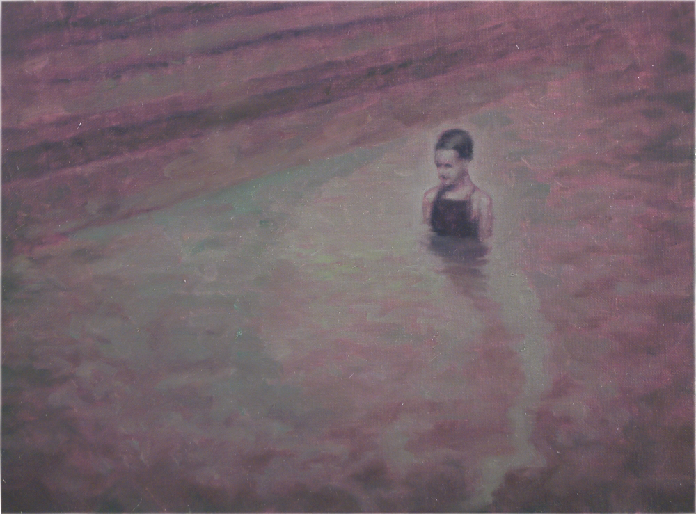 figure in water o,c. 56x75,5 cm. 2004