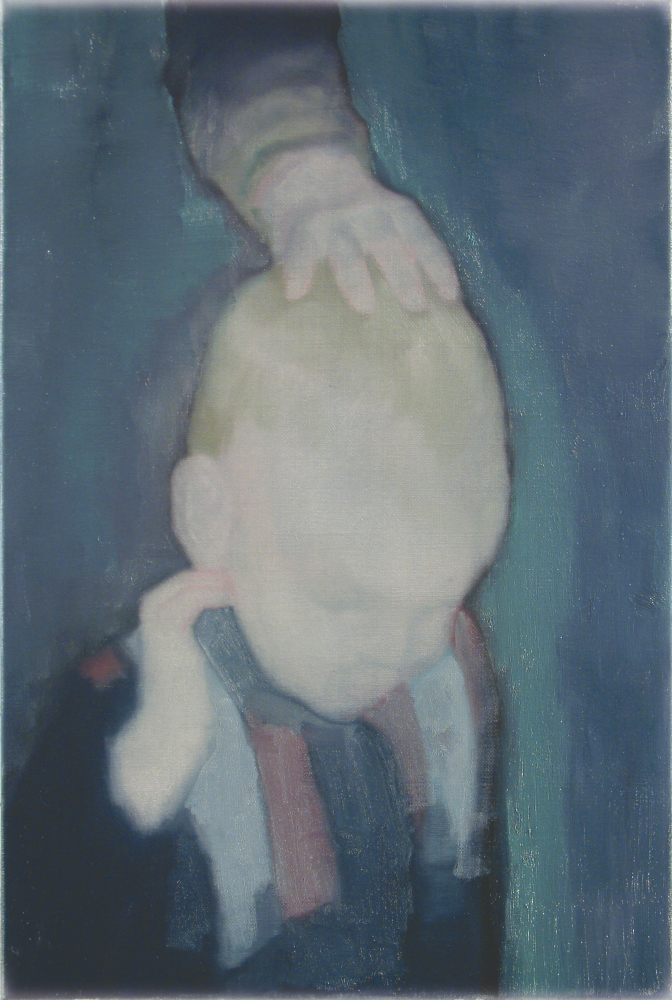 head of a boy o,c. 60x40cm. 2005