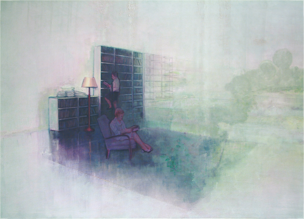 library o,c. 140x200cm. 2005