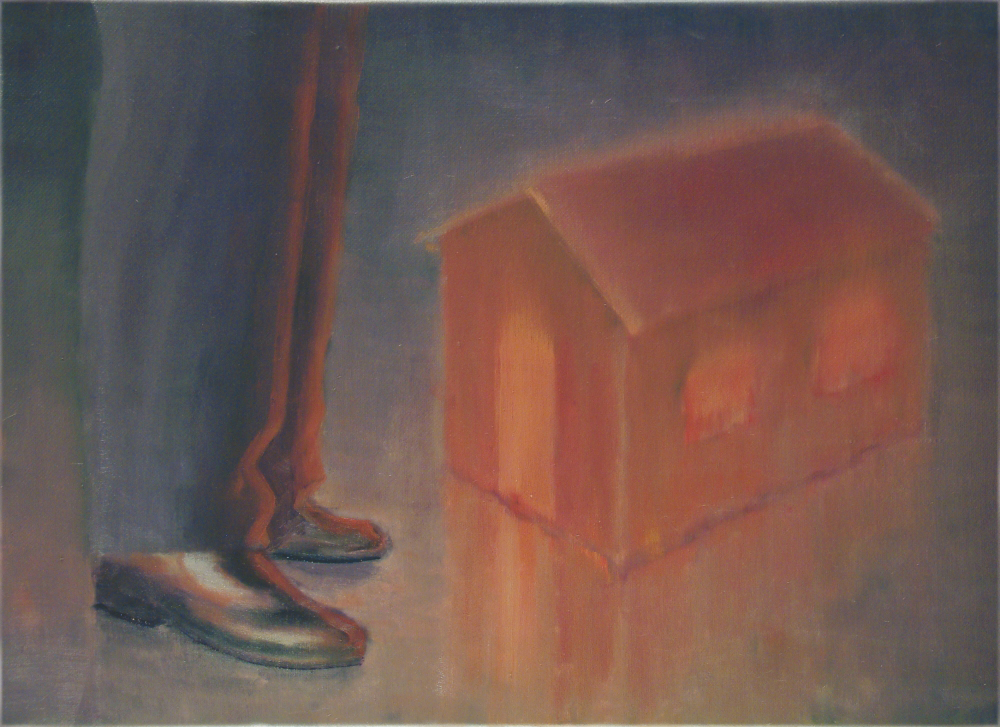 little luminous house o,c. 51x71cm. 2005