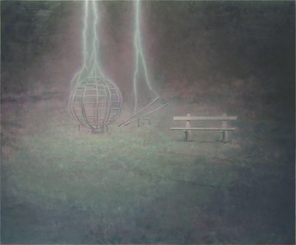 playground with lightning o,c. 200x240cm. 2005