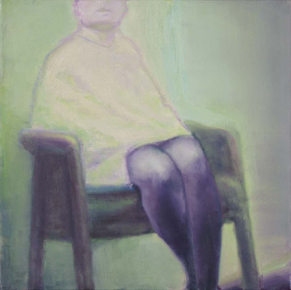 woman is sitting in a chair o,c. 50x50cm. 2005