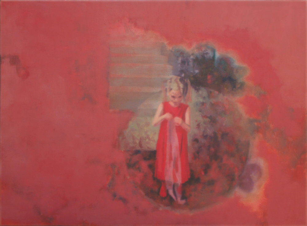 girl  in red o,c. 55,5x75,5cm. 2006