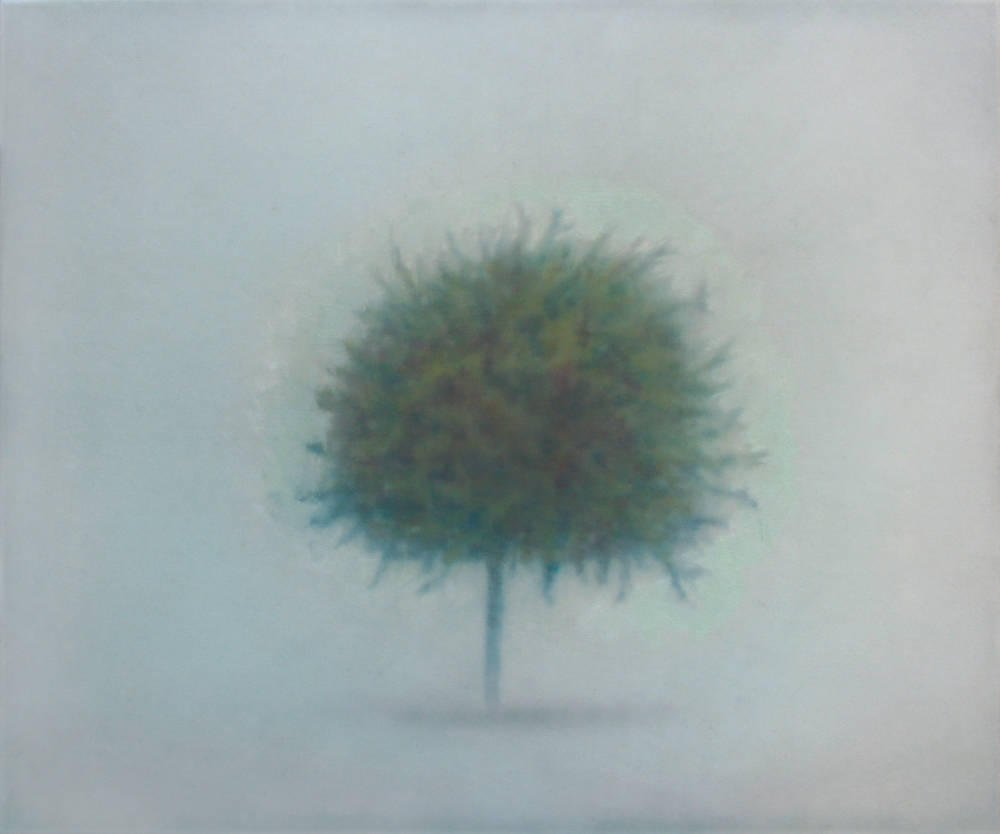 little tree with aura o,c. 75,5x90cm. 2006