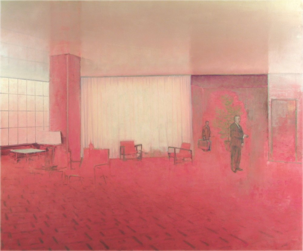 reception room in red o,c. 200x240cm. 2006