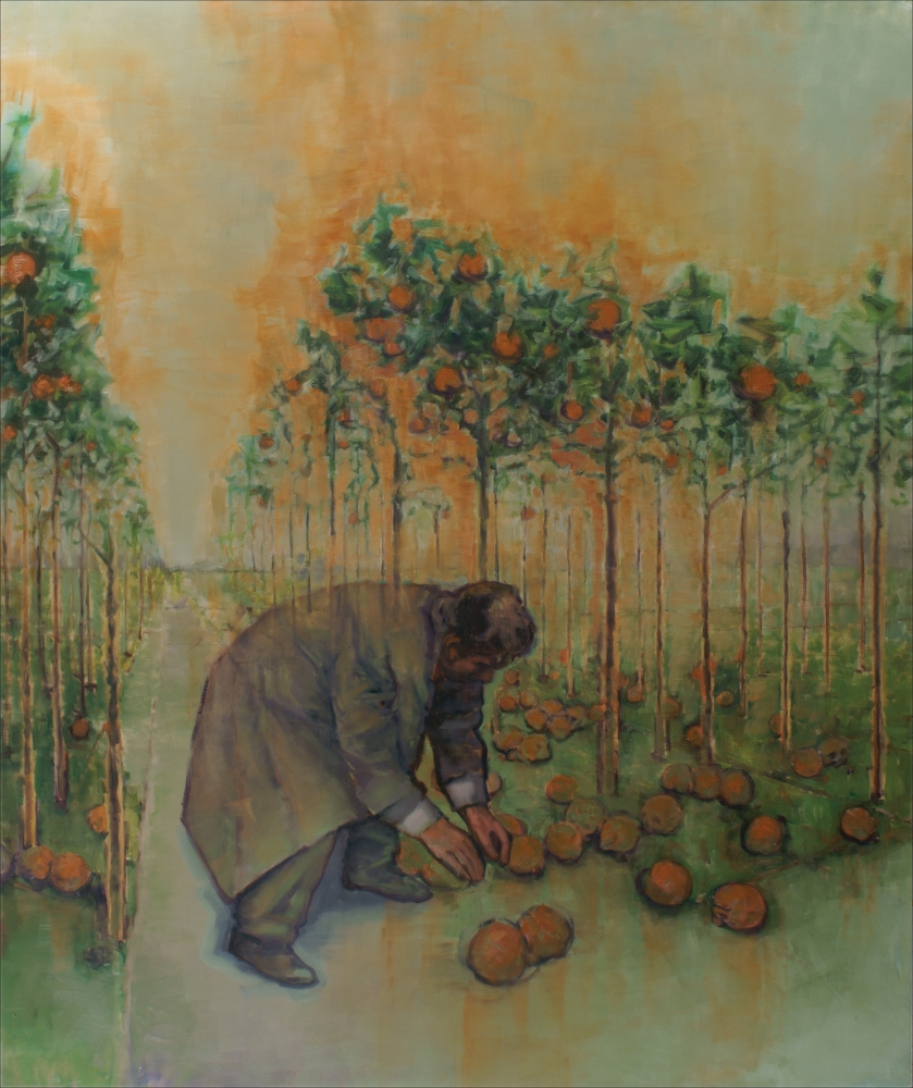 columbo in orange orchard o,c 200x240cm. 2008