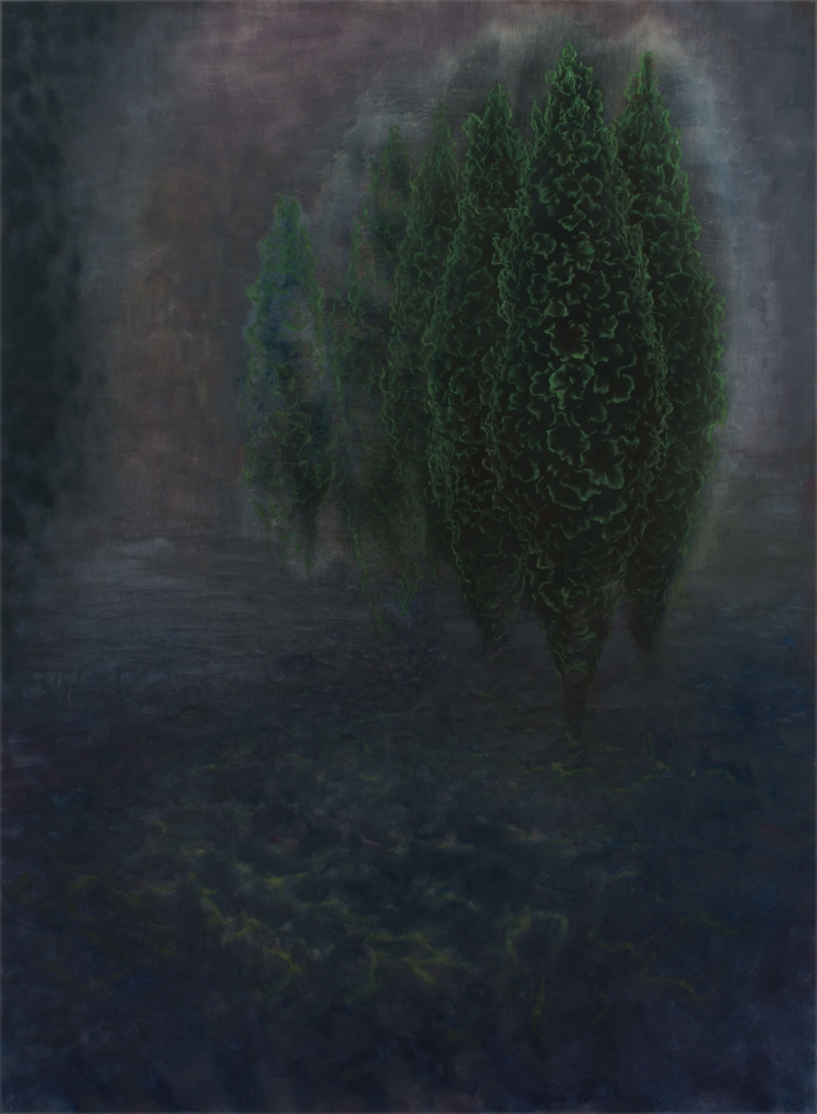 landscape with trees o,c 190x140cm. 2008
