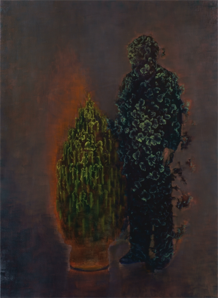 man becoming tree o,c. 190x140cm. 2008