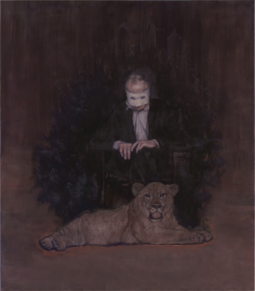 masked man with lion o,c. 160x140cm. 2009-2010