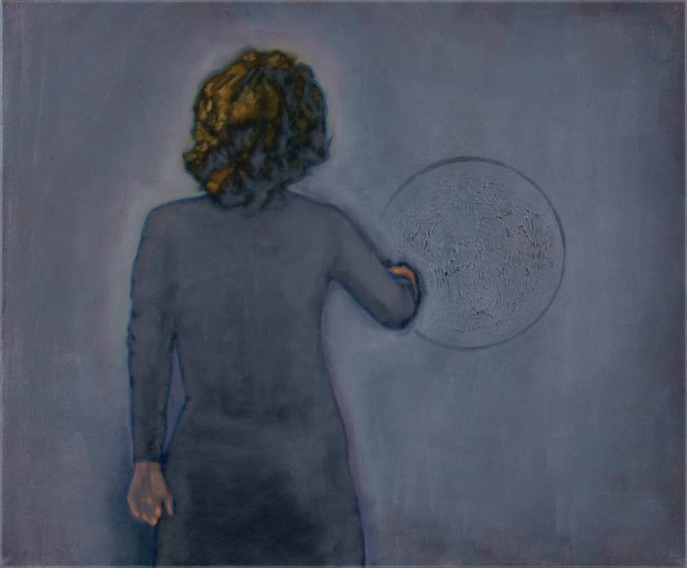 woman with blindspot o,c. 50x60cm. 2009