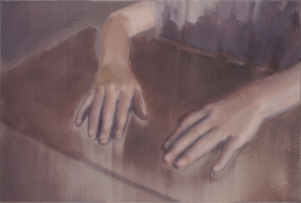 hands on a desk o,c. 40x60cm. 2010
