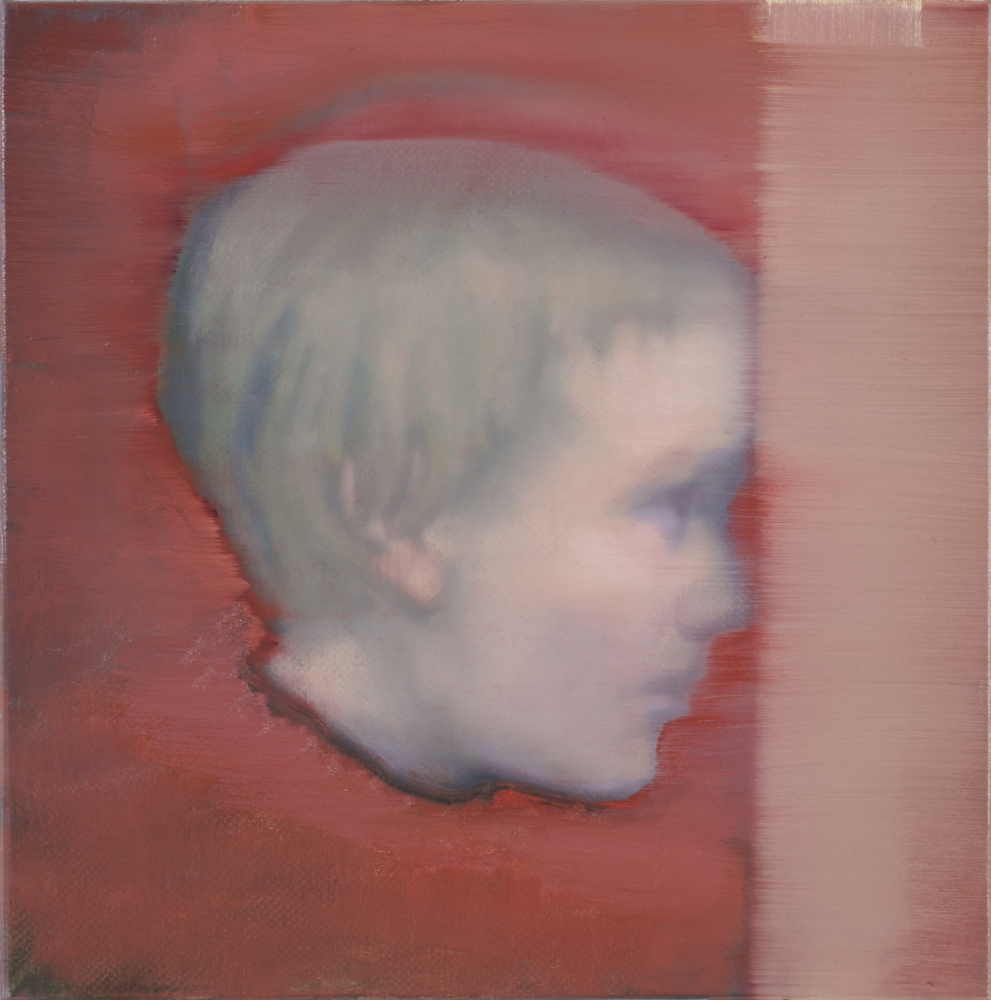 head with red background o,c. 40x40cm. 2010