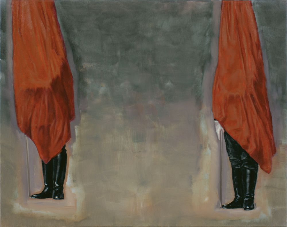 attila szucs, two guards o,c. 80x100cm. 2011