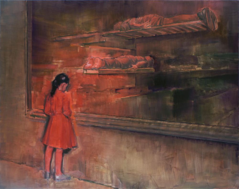 attila szucs, girl in red o,c. 190x240cm. 2012