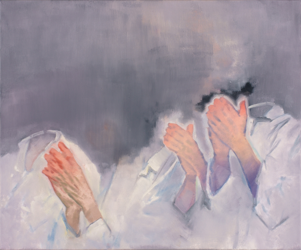 attila szucs, clapping, oil on canvas, 50x60cm. 2013