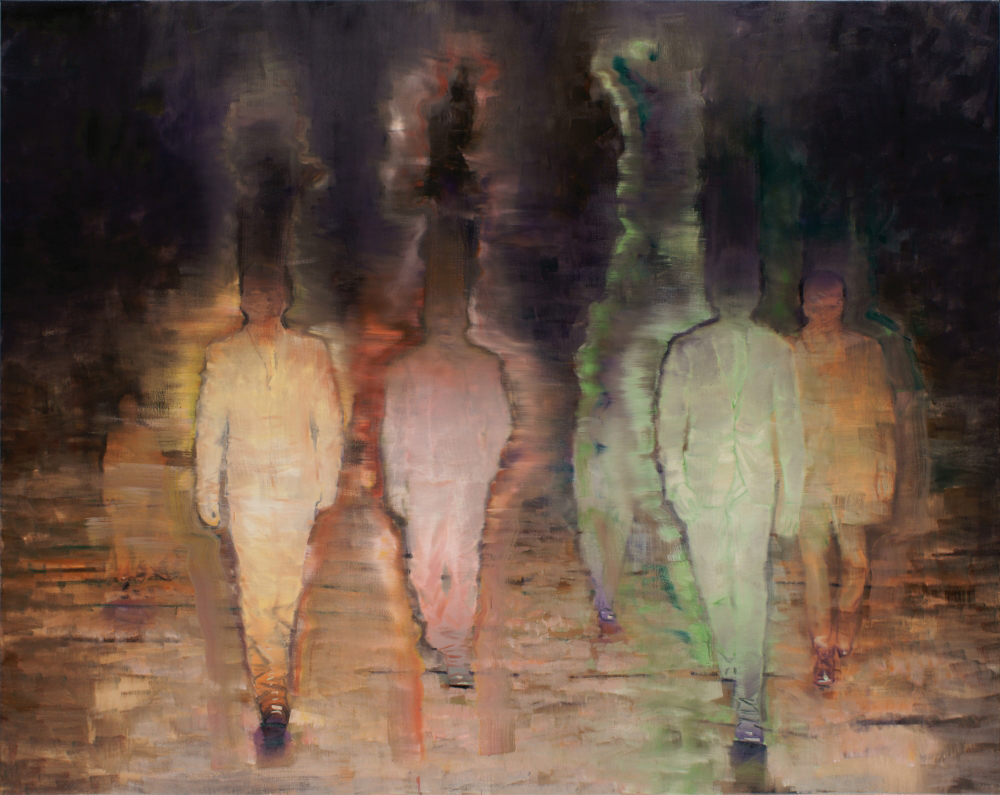 attila szucs, strangers in the night, oil on canvas, 190x240cm. 2013