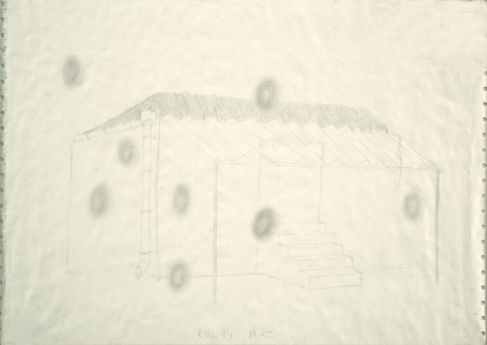 separate house, paper, A3 1990