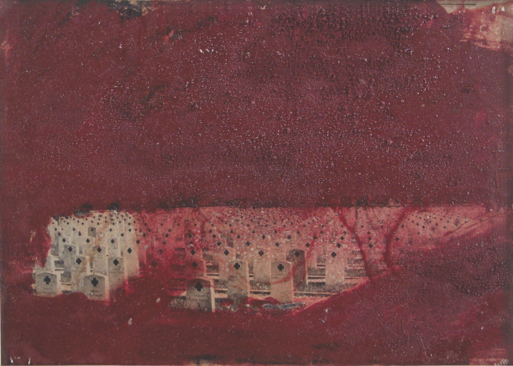 cemetery, photo, mix., tech. 29,5x20,5cm. 1991