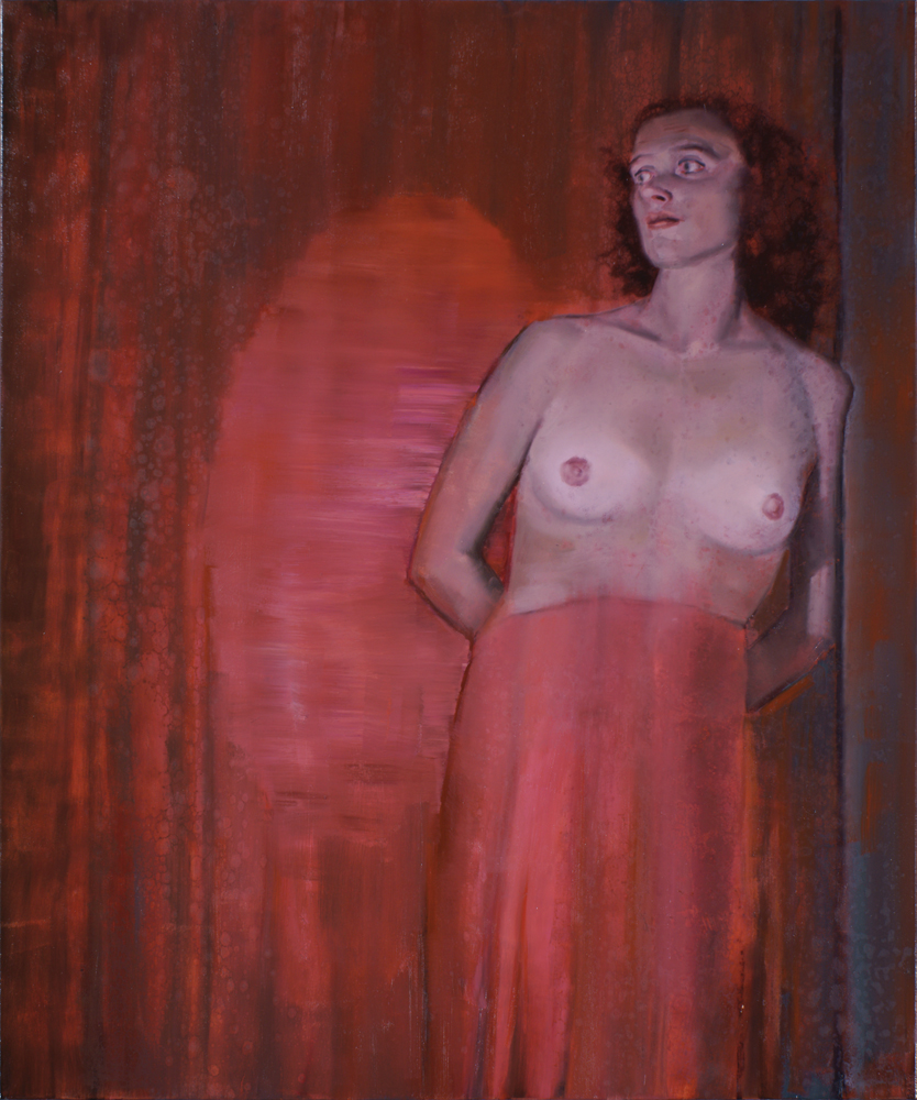 on the stage, oil on canvas, 120x100cm. 2012-16
