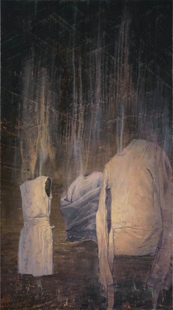 illuminated straitjackets, oil on canvas, 190x105cm. 2011-16