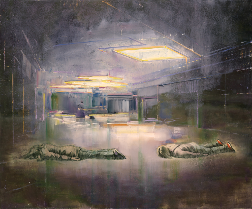 midnight planking, oil on canvas, 100x120cm. 2012-17