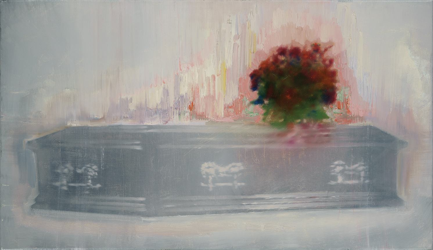 rose coffin, oil on canvas, 40x70cm. 2014
