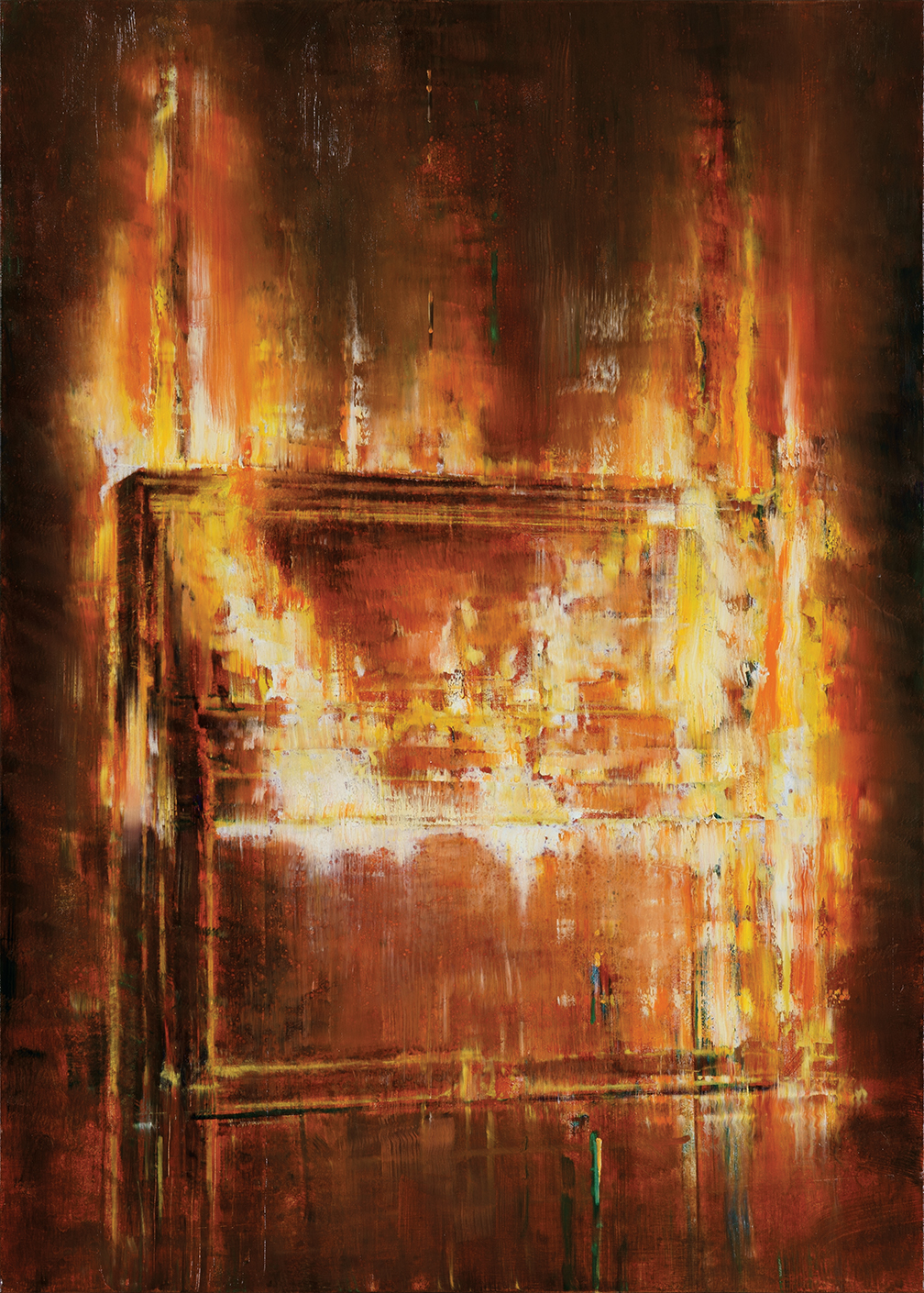 piano on fire, oil on canvas, 140x100cm. 2019