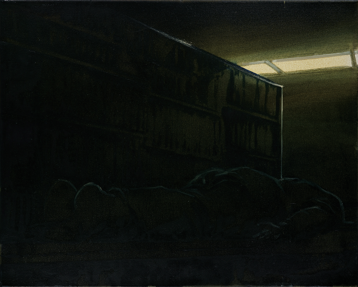 library at night, oil on canvas, 40x50cm. 2012